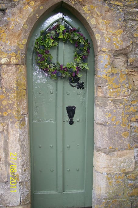 The Vicar's special door which leads straight into the Church Yard...