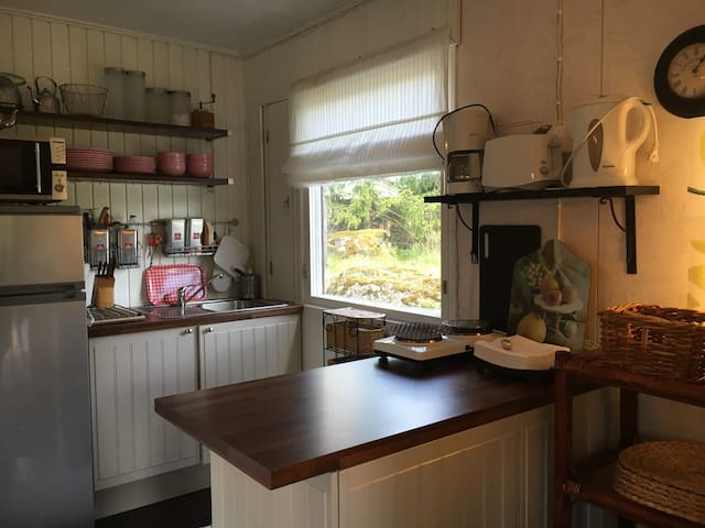 The Open kitchen with necessary equipment!