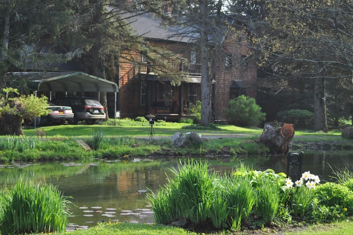 MANOR HOUSE CHATEAU   120 ACRE WOODED COMPOUND