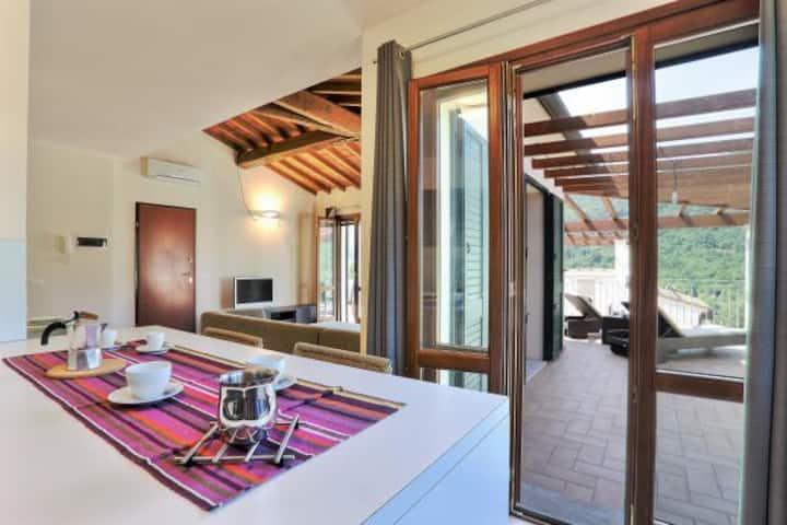 Exclusive villa with sea view - Rio nell'Elba: Villetta Natura Casa A