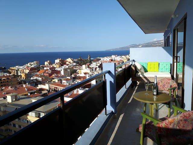 Central and Unique Panorama Ocean view - Puerto de la Cruz - Apartment