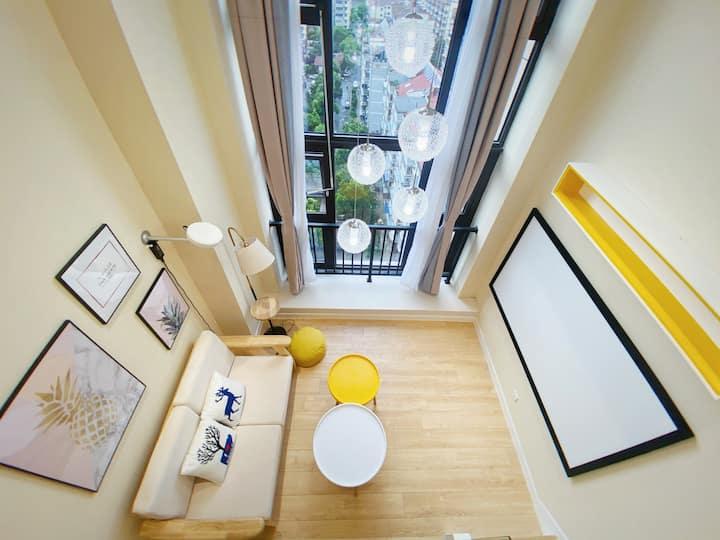 「解忧」LOFT私享品牌投影大床房·南京工业大学·青奥体育公园·独享整个房源·带洗衣机冰箱
