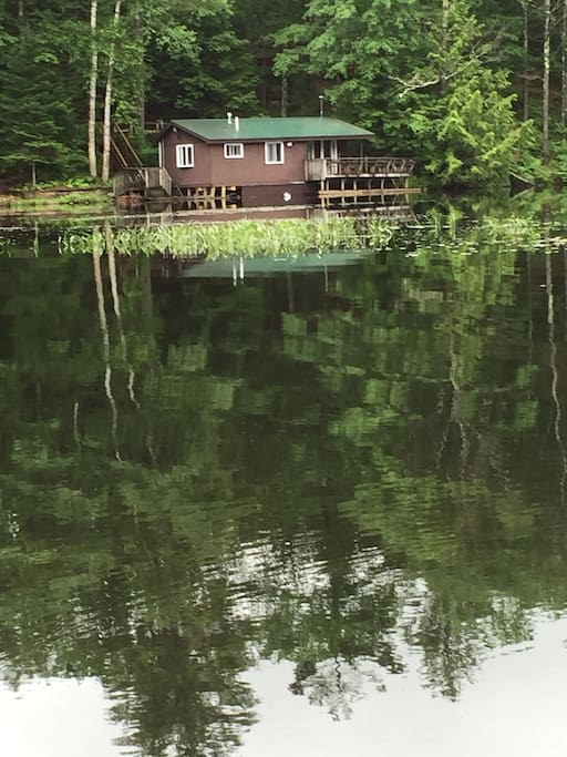 Once you've made it to Waterside Cabin you are right on the water.  Literally.
