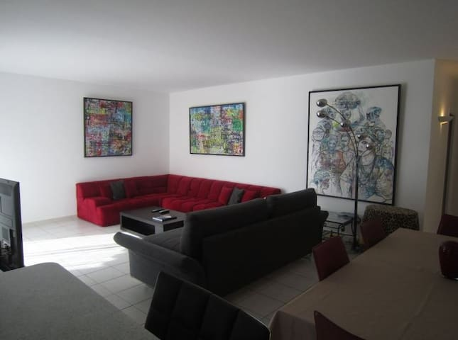 Living-room with sofa bed