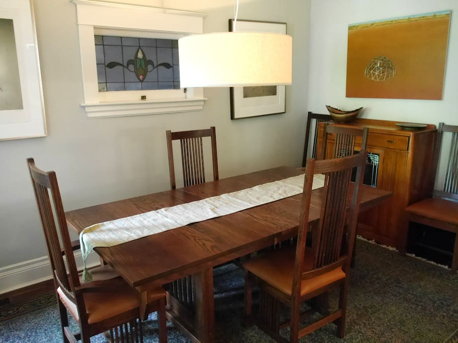 Large dining room table for all your meals.