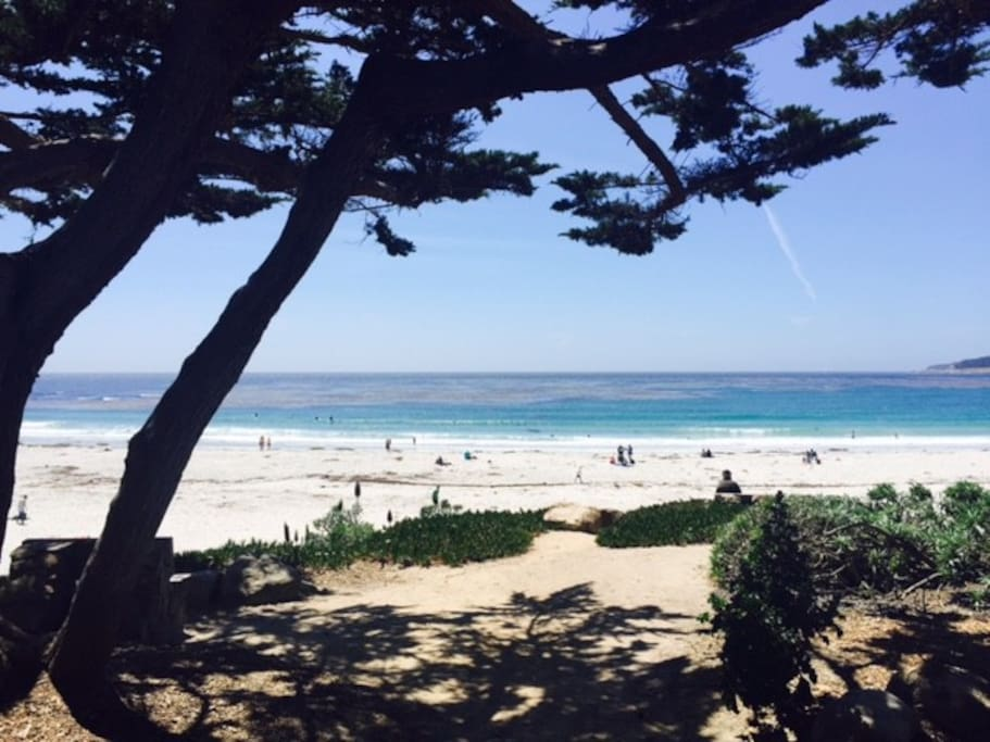 Lovely 10 minute stroll to Carmel beach. close everything