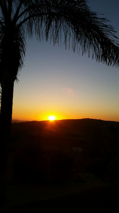 Enjoy the sunset from our quiet sanctuary on the mountain