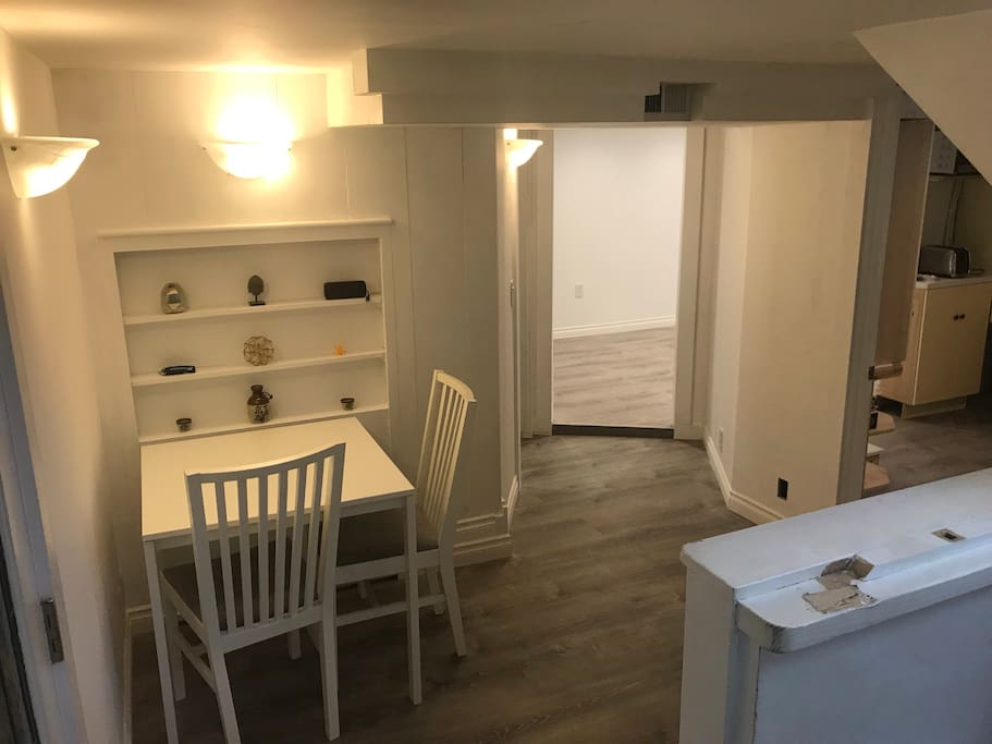 Tiny entryway and dining table