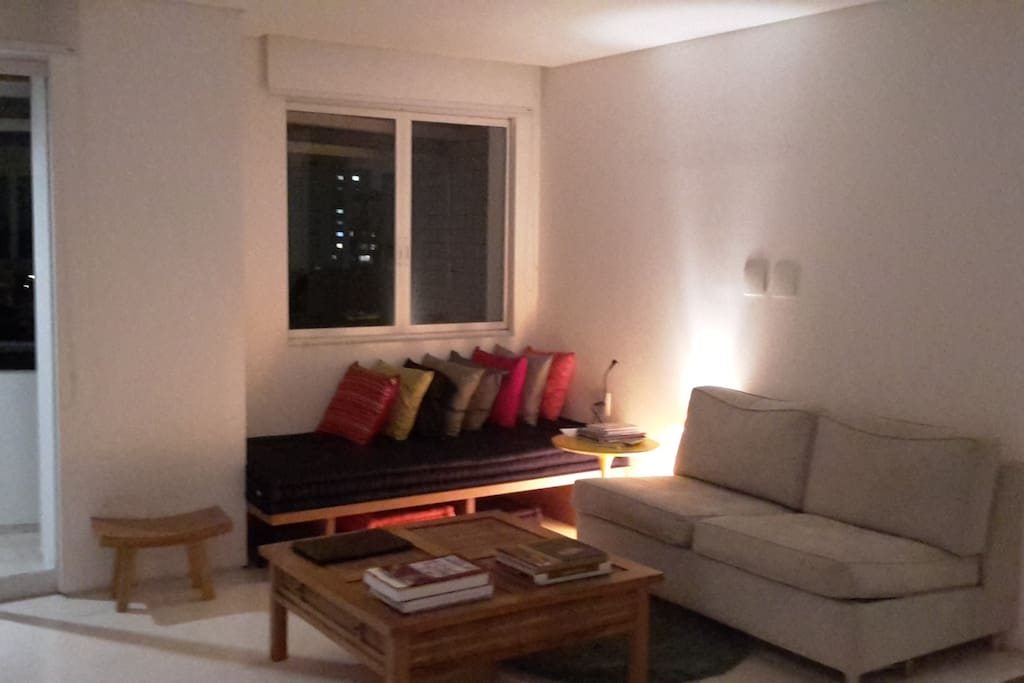 Comfortable sofa bed and futon.