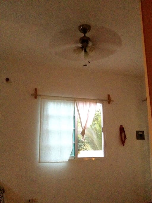 Fans in all rooms & Lots of windows with Mosquito Nets