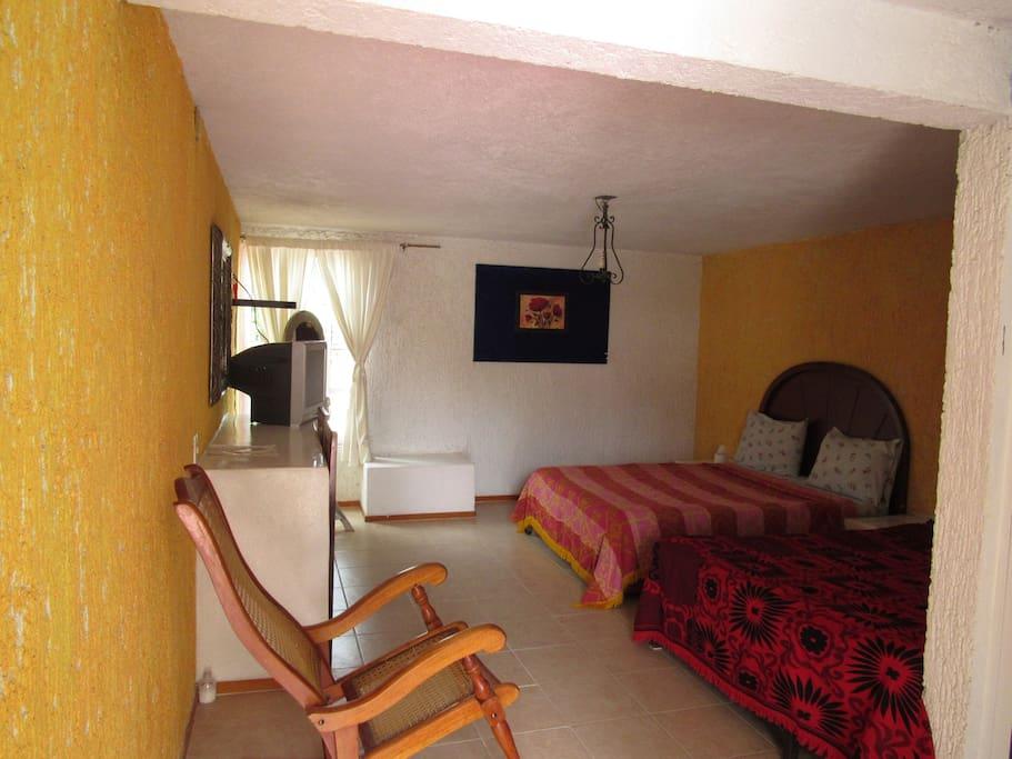 Habitaciones con dos camas matrimoniales