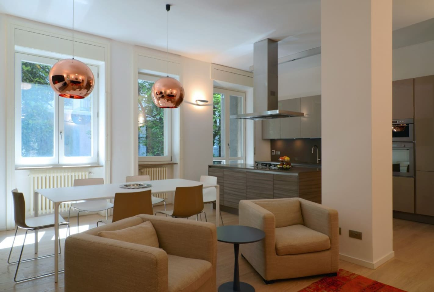 open space - kitchen and lounge