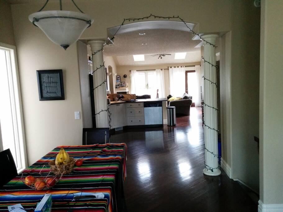 Open Concept main floor.