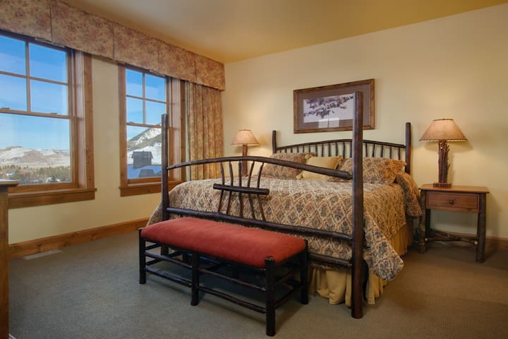 Master bedroom with views of the Tetons