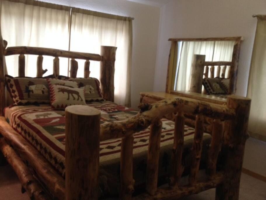Queen Bed in Master Bedroom