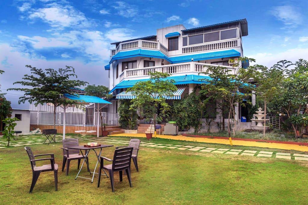 Primavera 4 Bhk Pool Lawn Villa Bungalows For Rent In Lonavala Maharashtra India