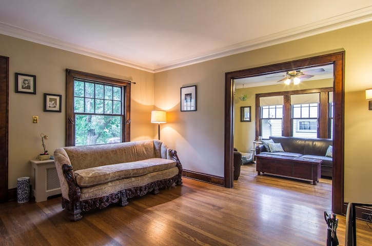 Bright, comfy, private room - Cleveland Heights - Huis