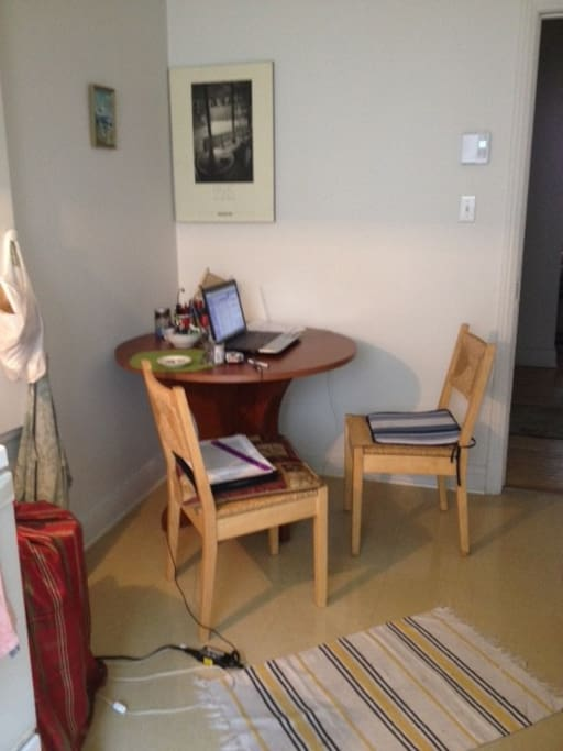 Kitchen desk can also be used as an office table..one of my favorite spots in the house
