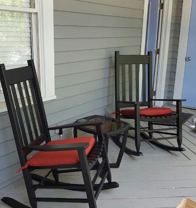 Rocking chairs on your back porch...