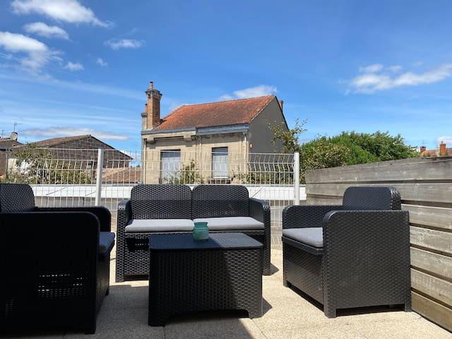 Bel appartement entier à Bordeaux avec terrasse