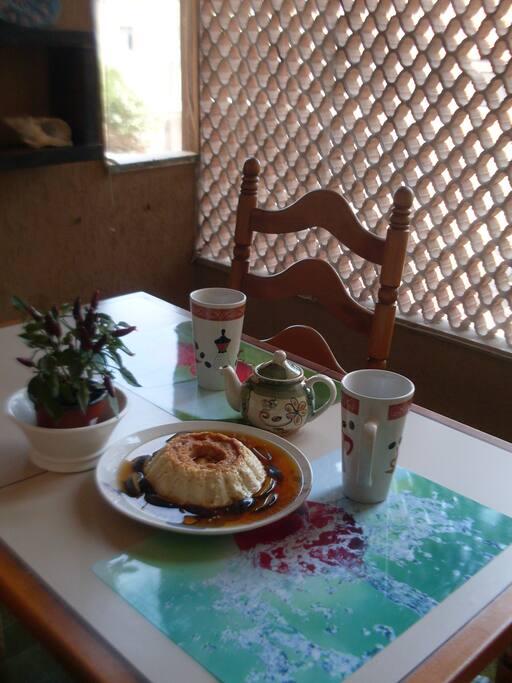 Terrazza (dolce flan di latte offerto dalla padrona di casa)
