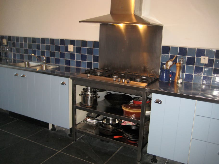Kitchen is well equiped with Boretti stove, oven, fridge, etc