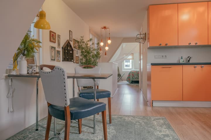 SOEPP the vintage orange room 🧡 Breakfast included