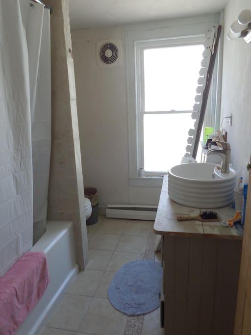 Adjacent bathroom