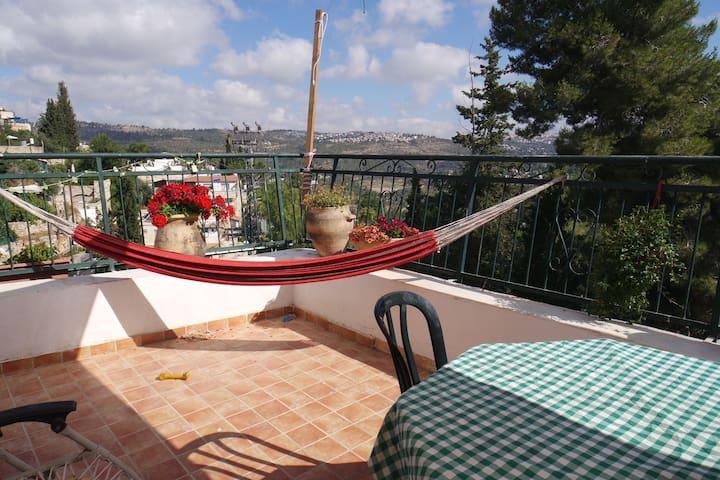 beautiful rooftop appt at Ein Karem - Jeruzalem - Appartement