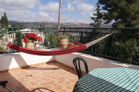 beautiful rooftop appt at Ein Karem - เยรูซาเล็ม