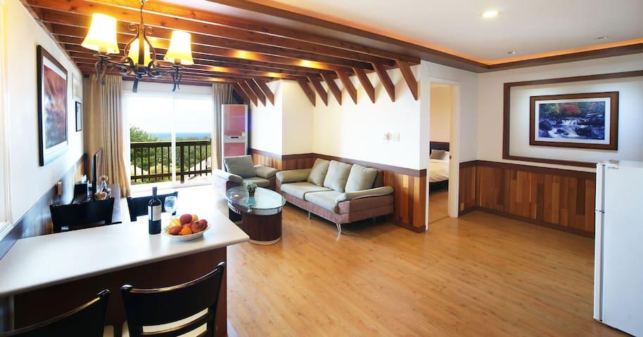 유티에스빌리지 디럭스 패밀리(43평)애월읍/방2침대4,욕실2주방 - Aewol-eup, Jeju-si - Villa