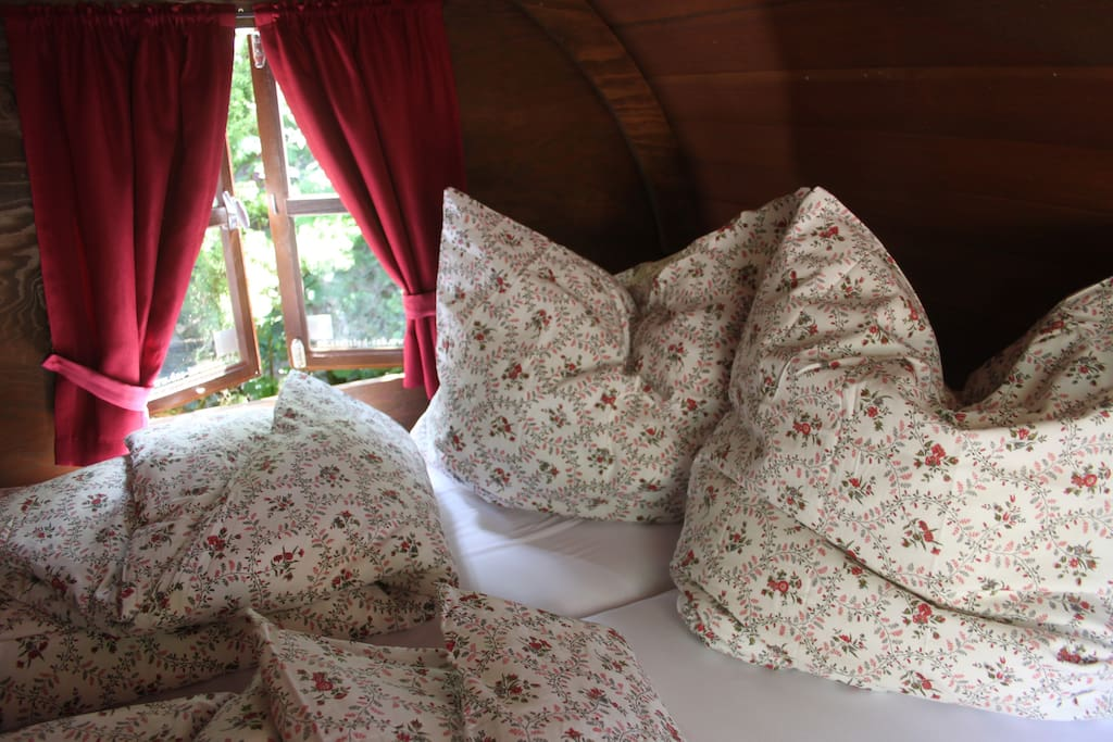 Gemütliche Bettwasche machts kuschlig