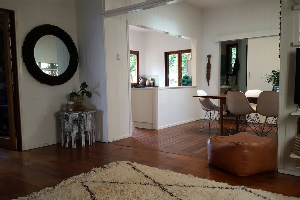 Comfortable open plan living and dining space