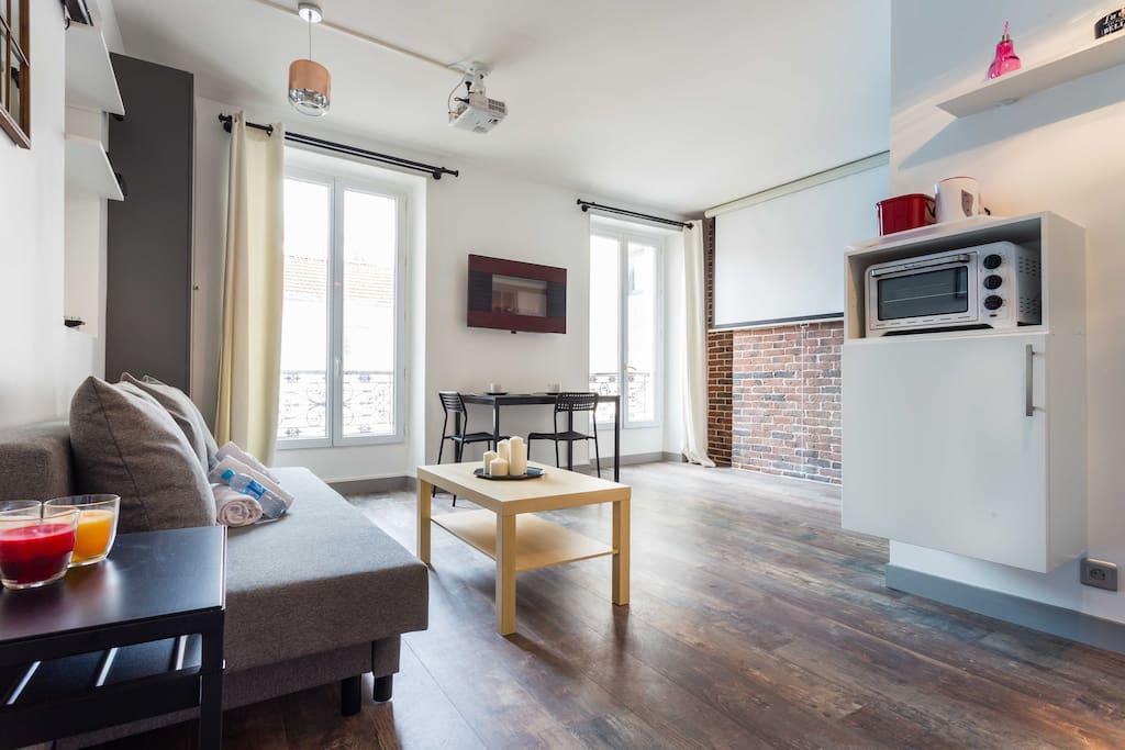 Magnifique studio boulogne billancourt appartements for Espaces verts boulogne billancourt