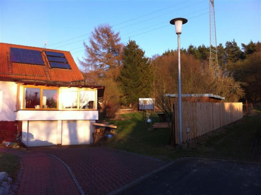 vagon in the green tiny houses for rent in lohfelden hesse germany. Black Bedroom Furniture Sets. Home Design Ideas