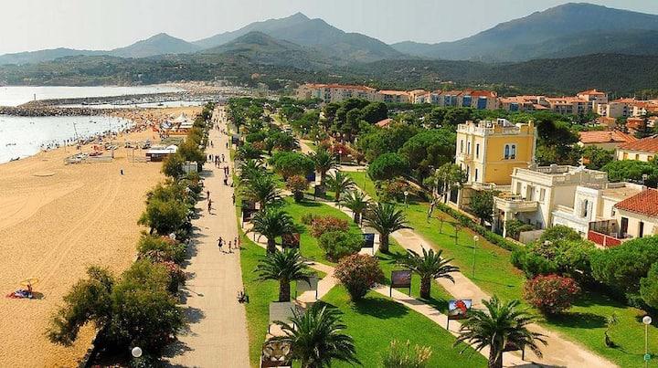 Argelès s/mer, T2, 50 m de la plage, 100 m du port