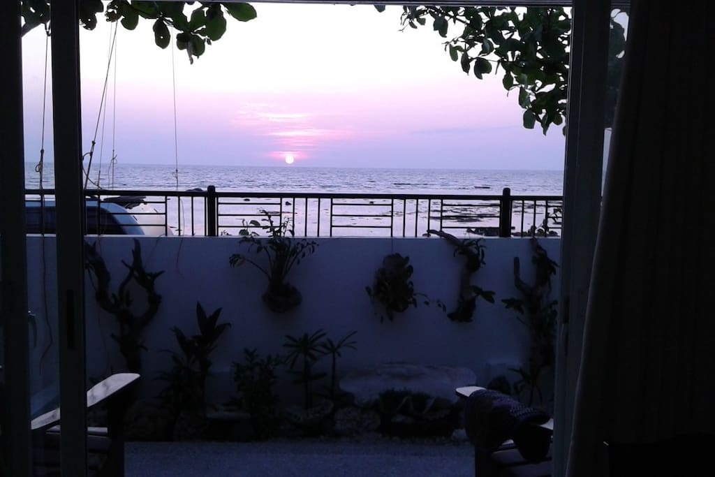 Sunset view, looking West at South China Sea