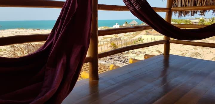 Kabana Jaci ocean view 200m beach Canoa Quebrada