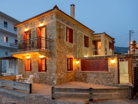 Beachfront Stone-built Luxury Fully Equipped Villa