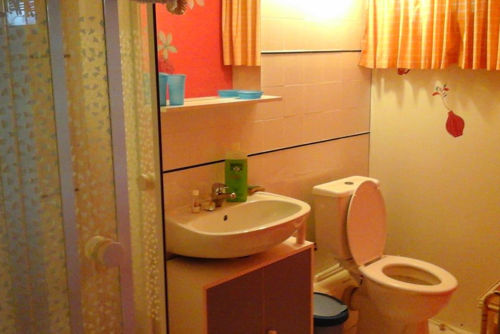 Chambre avec salle de bain priv e chez particulier for Salle de bain translation
