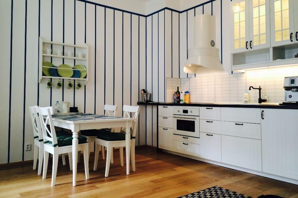 """Квартира выполнена в стиле """"прованс"""" что позволяет полностью окунуться в Прагу."""