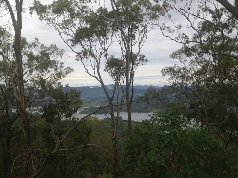 Lake Wyaralong, view from the rear boundary, a good 30 minute hike by foot from the bottom.