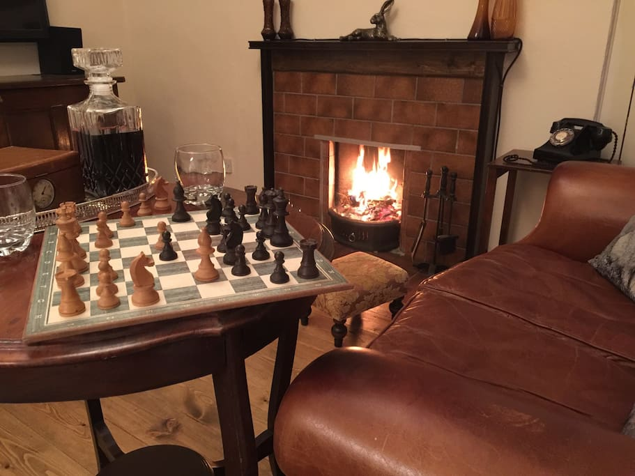Enjoy the open fire in front of the TV, or perhaps a game of chess, read a book or listen to music.
