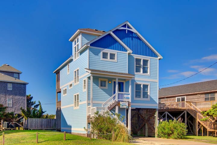 Hatteras Village: 135 yards from the beach, private pool, hot tub