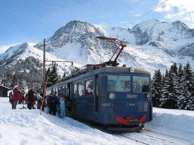 Le train du Mont Blanc pour aller au sommet!