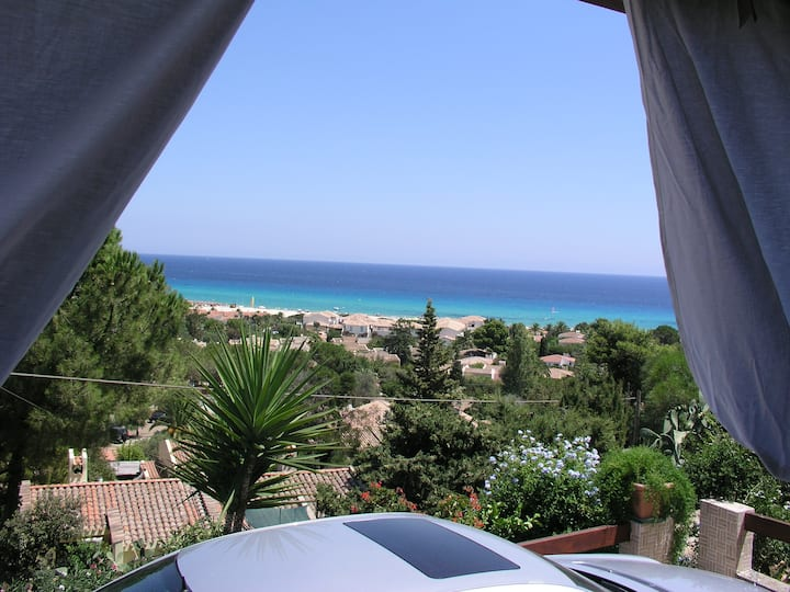 Villa Rosi with Sea View, Air Conditioning, Terrace & Garden; Parking Available