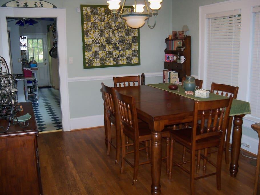Next up--dining room.