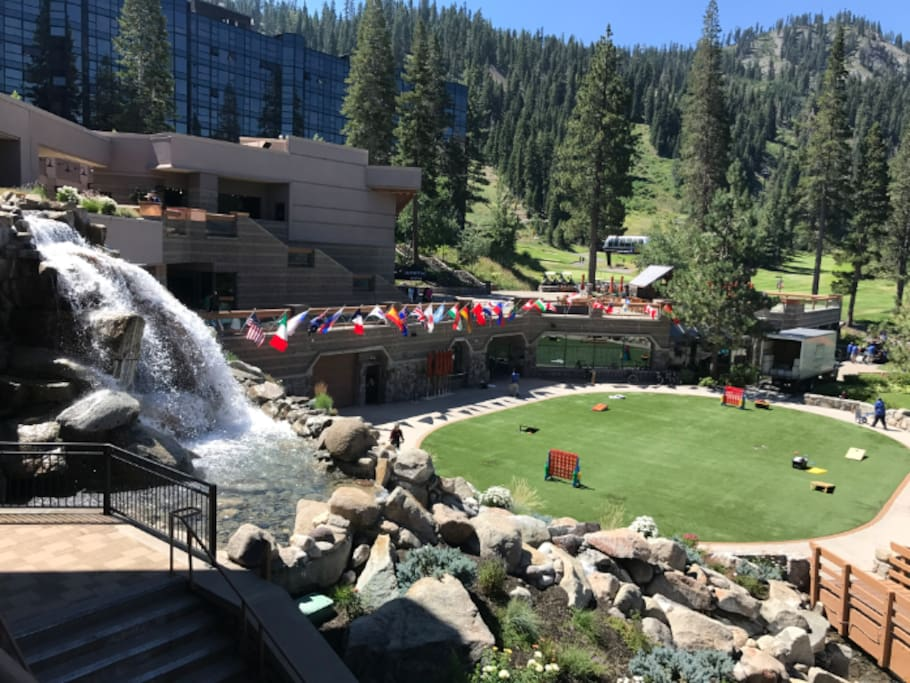 Back lawn at Resort at Squaw Creek