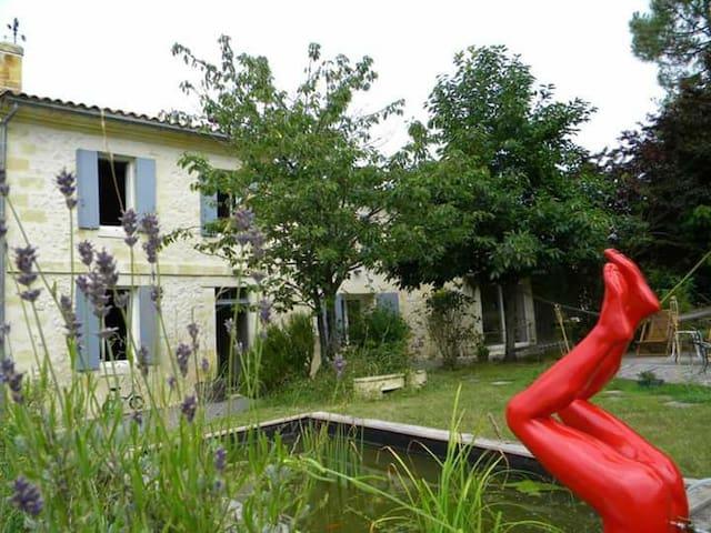 1 Chambre spacieuse sdb & piscine - Baurech - Bed & Breakfast