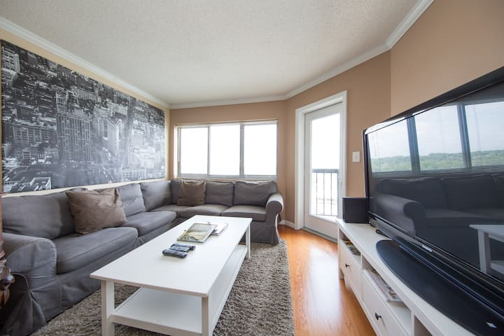 Modern Living room, with balcony